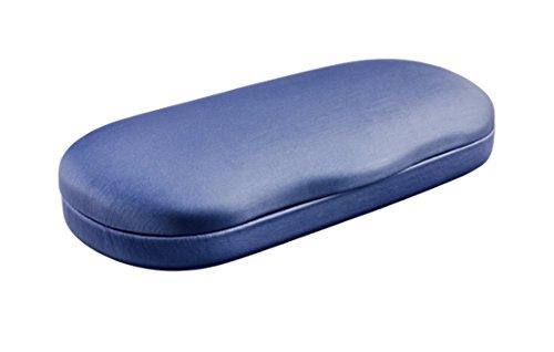 Edison & King Estuche para gafas rígido redondeado para una apertura más fácil, en varios colores (azul)