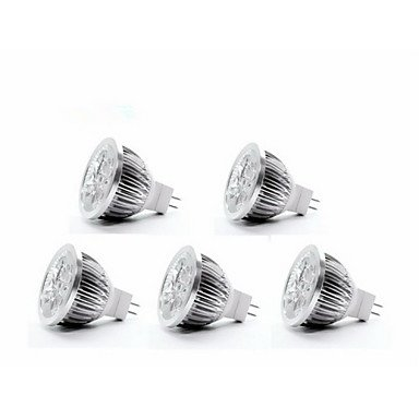 5W GU5.3(MR16) Spot LED MR16 4 350-400 lm Blanc Chaud DC 12 V 5 pièces