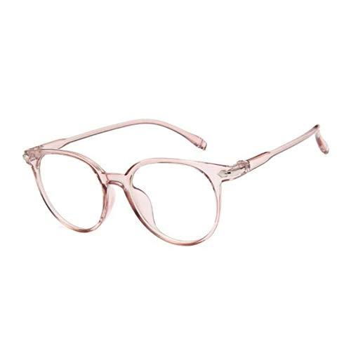 Ljtao Frauen Brillengestell Männer Anti Blaulicht Brillengestell Vintage Runde Klare Linse Gläser Optische Spec Le Rahmen