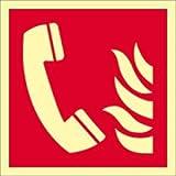 Schild Brandmeldetelefon gemäß ISO 7010 HIGHLIGHT PVC 20 x 20cm