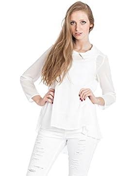 [Patrocinado]Abbino 5436 Blusas Tops Para Müjer - Hecho EN Italia - 2 Colores - Primavera Verano Otoño Invierno Mujeres Femeninas...