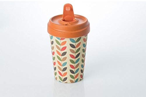 Coffe to go Becher Bamboo Cup (Bright Leaves) - Drop-leaf
