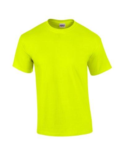 Gildan Ultra Cotton TM Adult T-Shirt Sicherheit Grün 5XL