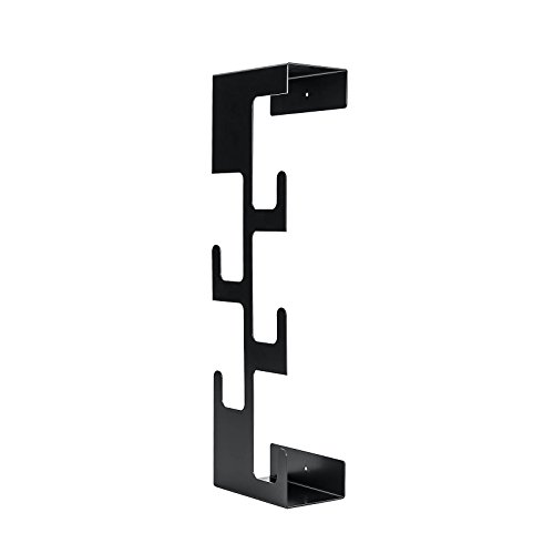 Perchero de pared ahorro de espacio negro para ropa sombreros paraguas llaves teléfonos móviles vertical fácil de instalar oficina en casa Sema Show diseño
