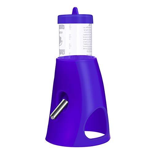 UEETEK Kleine Versteck Tier Schlupfloch Trinkflasche, 2in 1Wasser Flasche mit Kunststoff Boden Hütte Living Habitat für Zwerg Hamster (blau) (Zwerg-hamster-habitat)
