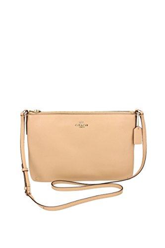 COACH - Borsa a tracolla; Donna; Chiusura con zip; Tasca posteriore e interna; Beige - Female beige