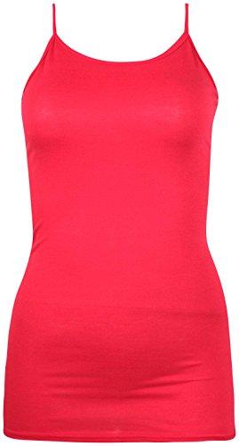 Flirty Wardrobe Tunique Plus Taille Mesdames Stretch Soutien-gorge Effet Gilet sans manches long pour femme red
