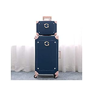 Trolley Case Equipaje con Ruedas Giratorias para Mujeres Trolley Case Small Female Cute Universal Wheel Suitcase,UNA,20 en