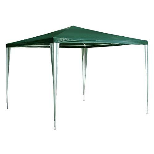 Nexos GM36002 PE-Pavillon Partyzelt für Garten Terrasse Markt Camping Festival als Unterstand und Plane, wasserdicht 3 x 3 m grün