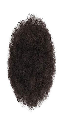 Barlingrock 1 Stück Pferdeschwanz Perücke Synthetische Afro Verworrene Lockige Pferdeschwanz Haarverlängerung Kordelzug Pferdeschwanz Puff Chignon Perücke (Afro Puff Perücken)
