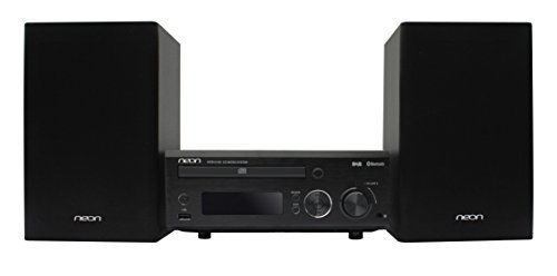 Neon Electronic MCB1515D-12 Micro Hi-Fi System Plays CD with USB Connection ,Bluetooth and MP3/FM+RDS for DAB+