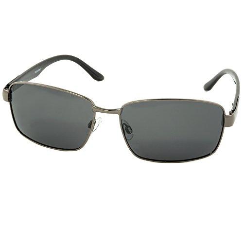 City Vision Polarisierende stylische Herren Sonnenbrille Retro 21650 Schwarz