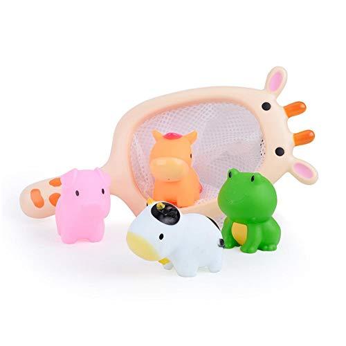 Baby Bad Spielzeug Kleinkinder Badewannenspielzeug Baby Badeset Set mit Giraffe Fisch angeln Kind Badezimmer Spielzeug, Kleines Wasserspray Bad Spielzeug