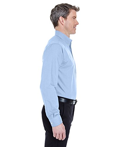 Langärmliges, faltenfreies Oxford Shirt für Herren Blau