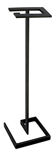 DanDiBo Design Toilettenpapierhalter Modern Schwarz Metall 75 cm Gala WC Rollenhalter Freistehend WC Papierhalter