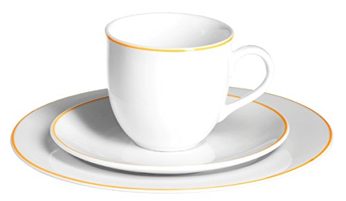 Domestic by Mäser Serie Air Rim, Kaffeeservice 18-teilig, für 6 Personen, in der Farbe Orange