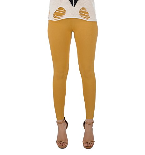 Legrisa Fashion Women's Mustard Ankle Length Leggings in XL, XXL & XXXL  available at amazon for Rs.314