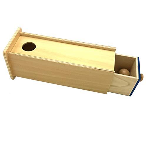 AchidistviQ-Wooden Baby Ball Rechteck Schublade Box Kinder Pädagogisches Spielzeug Lehrmittel Werkzeug - Rechteck Schublade