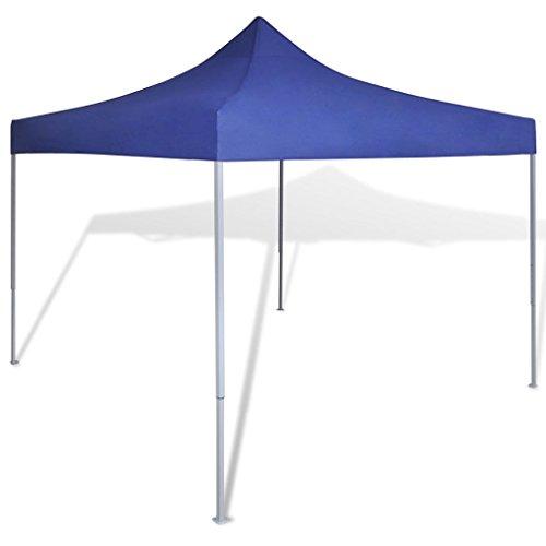 Vidaxl tenda da giardino pieghevole impermeabile blu 3x3 m con 4 pareti gazebo