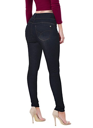 HyBrid & Company Damen Butt Lift v2 super bequemen Stretch-Denim jeans 9 IndigO2