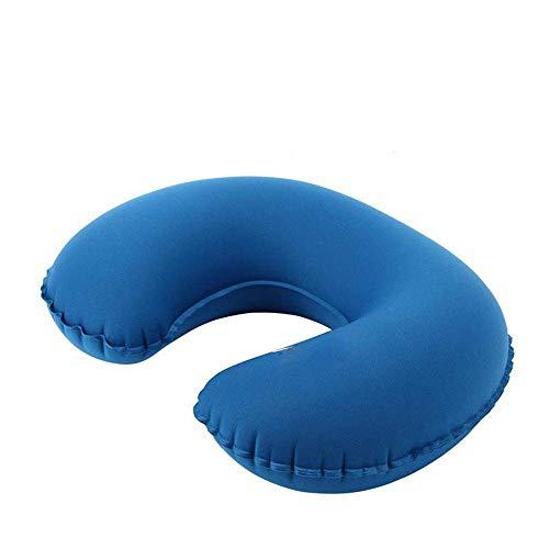 Huayer 378/5000 Reisekissen Auto Kopfstütze Reisekissen Deluxe Soft Aufblasbare Nackenkissenstütze - Kompakt und leicht, geeignet zum Schlafen in Flugzeugen, Autos und Zügen (Farbe : Royal Blue)