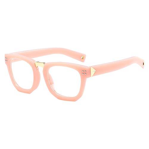 Moberlin Klassische Nerdbrille,Rechteck Clear Brille Starker Rahmen Fensterglas Ohne Stärke...