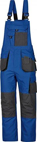 Arbeitslatzhose Power 270 g/m² blau-grau Canvas-Gewebe 3-fachnähte Gr.42-68 / 90-110 / 25-30 (52)