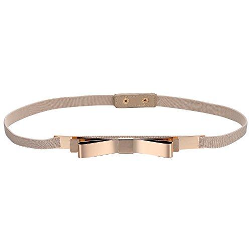 Babeyond cintura per vestito donna cintura decorativa in vita alta cintura elegante elastica donna cintura metallo donna (style-9-2)