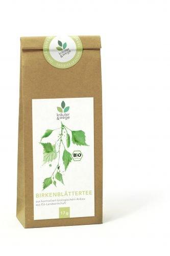 kräuter & wege ® | Bio Birkenblätter Birke Tee 17g | Getrocknete Premium Qualität | Abgefüllt in Deutschland