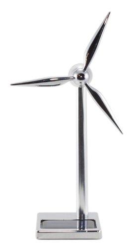 Windgenerator Metall -Solar- & USB Antrieb - 17 cm, Metal Windturbine- Eolienne Metal