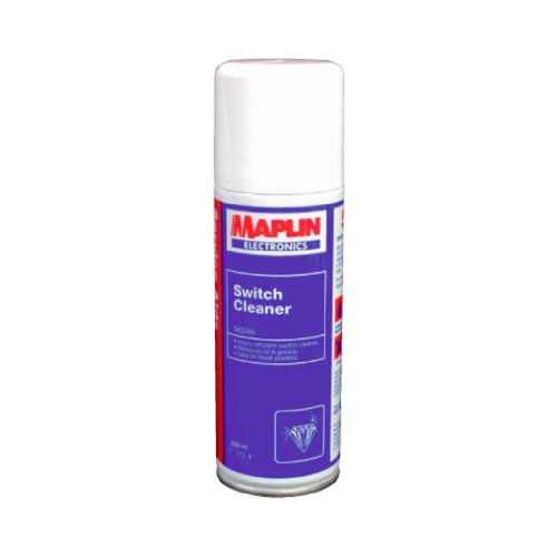 maplin-switch-cleaner-dirt-remover-200ml-spray-can-new