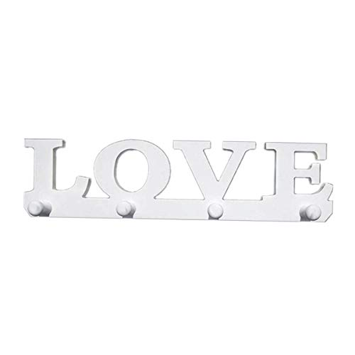 Vosarea Perchero Pared Madera Porte-chapeaux Love