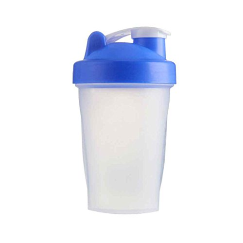 Fgyhtyjuu 400ml-Shake Gym Protein Shaker Mixer Getränk Whisk Kugel Tragbare Leakproof Sports Camping Shaker Trinkflaschen
