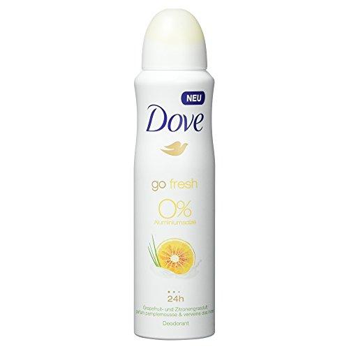 Preisvergleich Produktbild Dove Deospray Grapefruit- & Zitronengrasduft ohne Aluminium 150 ml