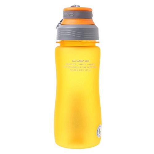 ei auslaufsicher Sport Tragbare Wasserflasche Outdoor Tour Klettern gelb ()