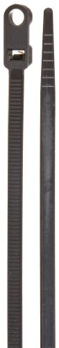 Weather Resistant Mountable Cable Tie, 50lbs Tensile Strength, 3-1/4 Bundle Diameter, 0.191 Mounting Hole Diameter, 0.188 Width, 11.75 Length, Black by NSI 0.188