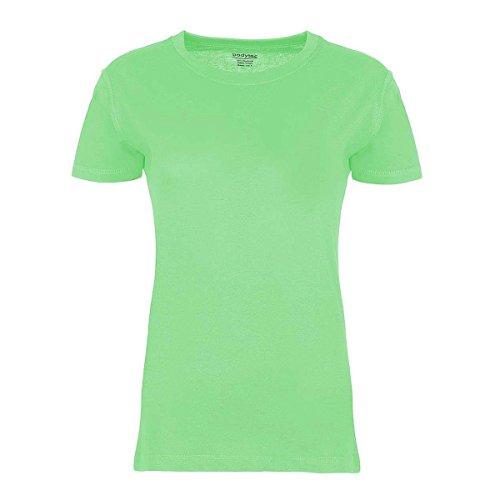 BODYTEC Damen-T-Shirt Klassiker, Rundhals, figurbetont, Baumwolle Hellgrün