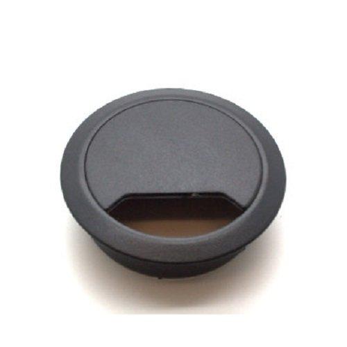 Schwarz Schreibtisch Tülle (10Stück schwarz Schreibtisch Kabel Multipack–Größen 60,65,80mm Tüllen–Schreibtisch Kabel, Schreibtisch Loch Einsätze, Kabel Management, Büro Kabelkanal, Push to Passform, 65mm, 1)
