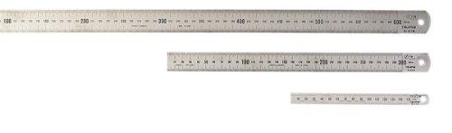 Tajima Rostfreier Stahlmaßstab, 150 x 15 mm Chrom, Klasse 1, 1 Stück, TAJ-41203