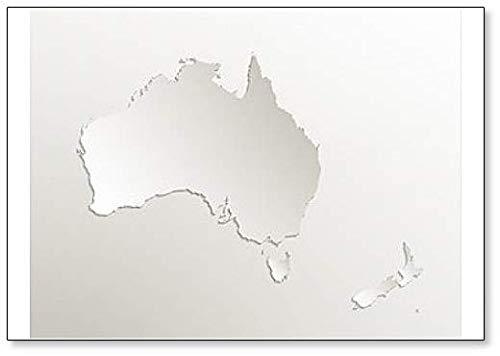 Australien Continent Karte mit neuseeländischem Kühlschrankmagnet