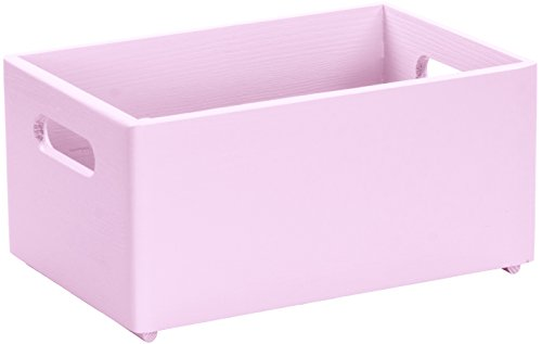 LAUBLUST Holzkiste zur Aufbewahrung in Größe M - Kiefer Rosa ca. 30 x 20 x 14 cm - Kiste mit Runden Kanten und Griffen