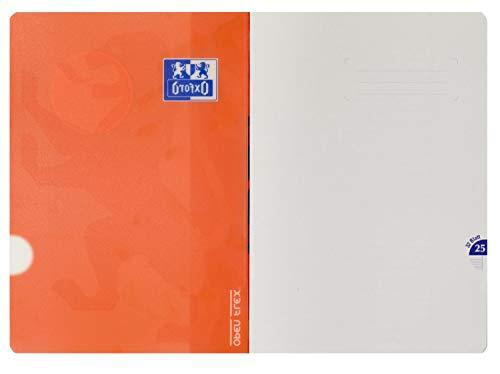 Oxford 400095631 Schulheft OpenFlex 10er Pack A4 32 Blatt Lineatur 25 - liniert mit weißem Rand koralle & aqua - 5