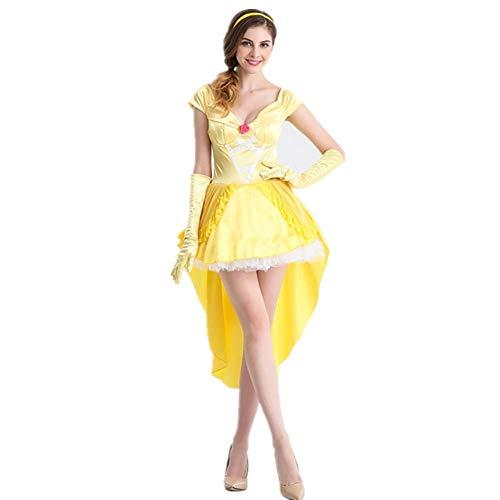 Halloween-Party-Kleider Performance-Fee-Prinzessin Artrock Prom Gelbe Prinzessin Kleid Cosplay Kleidung NCJLee (Color : Yellow, Size : (Viktorianischen Ära Kostüm Kinder)