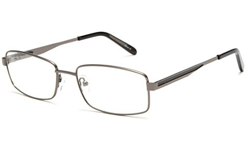IG Reading Glasses Newbee Fashion - Light Weight Metal Frame Squared Durable Reading Glasses with Spring Temple