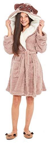 Slumber Hut® Filles Chien Carlin Robe de Chambre Polaire Luxe Chaud pour Les Enfants Animal Vêtement de Nuit - 7-8 Ans