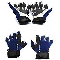 Azul Rush Nueva Guantes de vela 5dedos completa o guantes sin dedos para adulto–con dedos, color , tamaño XS