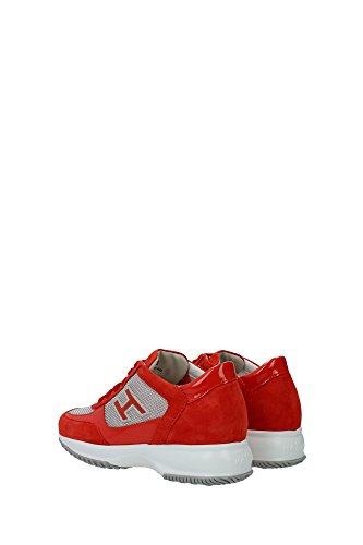 HXW00N032427YK372L Hogan Sneakers Femme Chamois Rouge Rouge