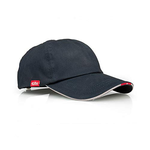Gill Sailing Yachting and Beige Cap Hat Navy - Unisex - Rostfreier hinterer Metallversteller - 6-Panel-Konstruktion