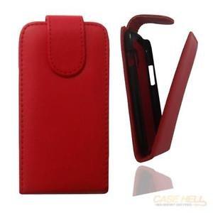 Flip Case Tasche Hülle Etui Handytasche in rot für Samsung Galaxy Trend GT-S7560 / S Duos GT-S7562 / Plus GT-S7580 / S Duos 2 GT-S7582 inkl. World-of-Technik Touchpen