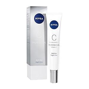 NIVEA PROFESSIONAL Vitamin C, crema de noche antiarrugas, crema de cara con vitamina C y efecto antiedad, crema facial antiarrugas para reducir los signos de la edad, 1 x 50 ml